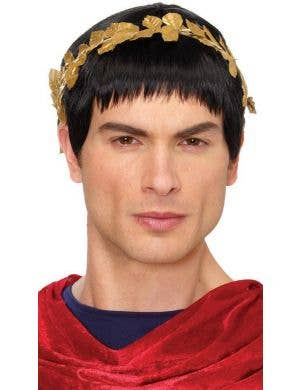 Julius Caesar Men's Short Black Costume Wig