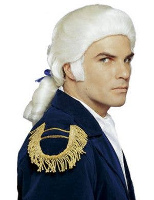 Colonial Men's White Aristocrat Costume Wig