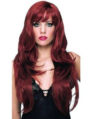 Dreamgirl Deluxe Women's Long Natural Red Costume Wig
