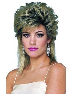 1980's Soap Star Women's Blonde Mullet Wig