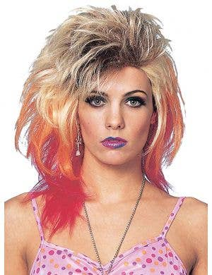 Glam 80s Women's Blonde Mullet Costume Wig