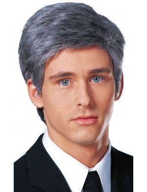 Business Man Short Grey Men's Costume Wig