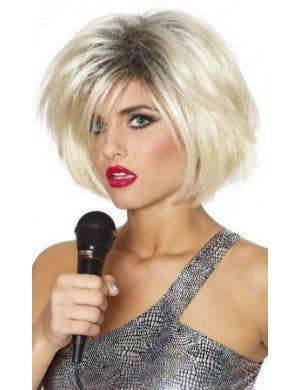 1970's Pop Icon Blonde Women's Short Blonde Wig