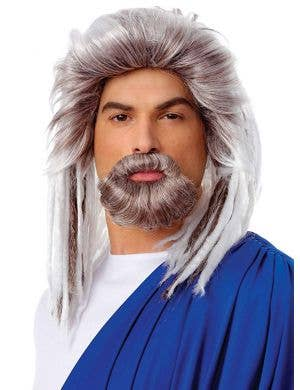 Men's Poseidon Costume Wig Front View