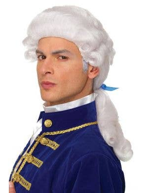 Adult's White Colonial Style Curly Costume Wig