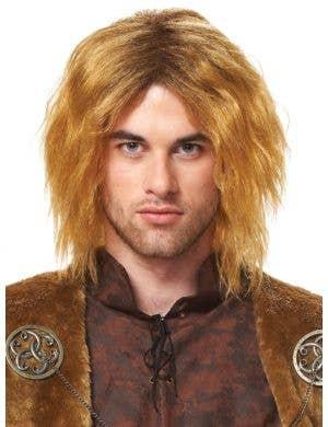 Medieval King Men's Honey Blonde Costume Wig