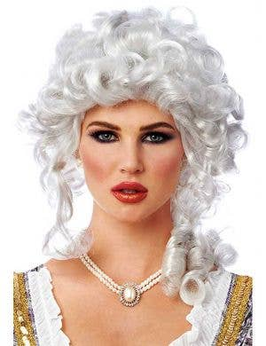 Women's White Marie Antoinette Wig Front View