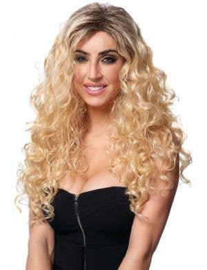 Latina Diva Women's Long Curly Blonde Wig