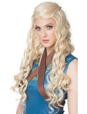 Medieval Princess Women's Long Blonde Wavy Costume Wig