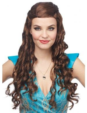 Medieval Princess Women's Brown Curly Costume Wig