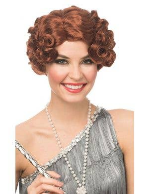Darling Daisy Women's Short Curly Natural Red Gatsby Wig