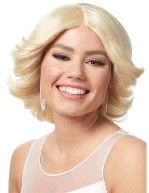 1980's Blonde Feathered Women's Costume Wig