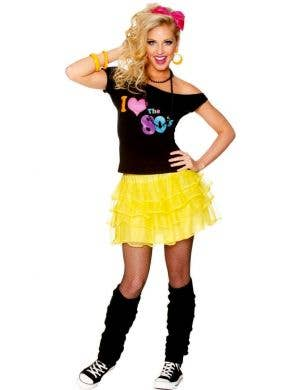 1980's Bright Yellow Women's Ra Ra Petticoat