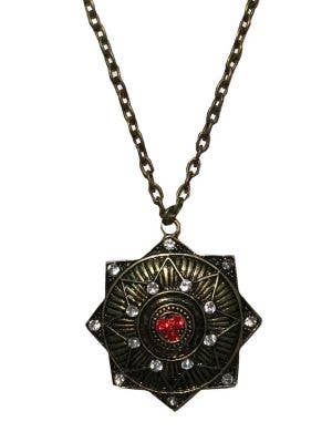 Vampire Medallion Halloween Costume Necklace