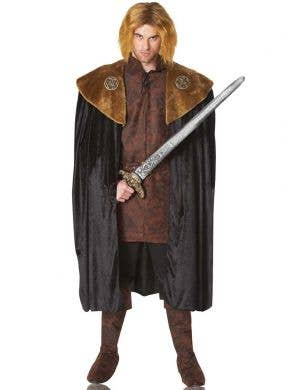 Black and Brown Game of Thrones Costume Cape Front View