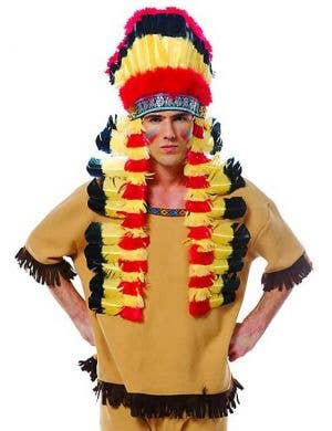 Wild West Indian Costume Headdress Front View