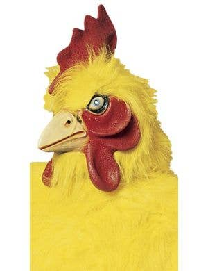 Full Head Deluxe Yellow Rooster Latex Costume Mask