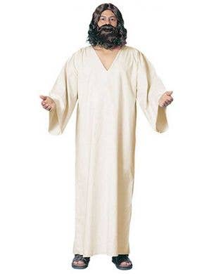 Men's White Jesus Robe Front View