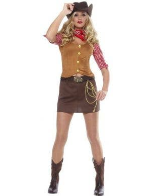 Wild West Gunslinger Women's Fancy Dress Costume
