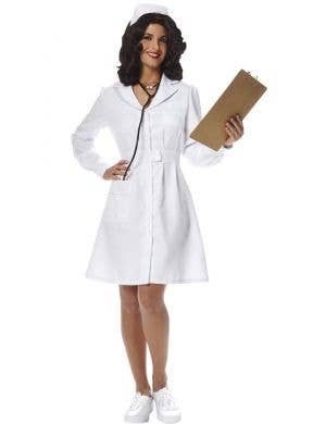 Classic Vintage Nurse Women's Fancy Dress Costume