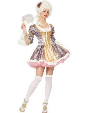 Women's Sexy Marie Antoinette French Queen Costume Front View