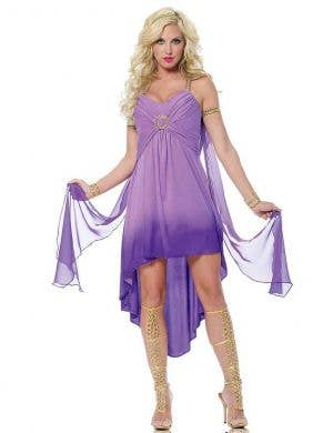 Sexy Purple Roman Goddess Women's Costume Main Image