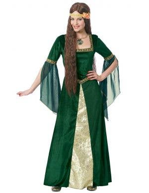 Maid Marion Women's Green Renaissance Costume Main Image