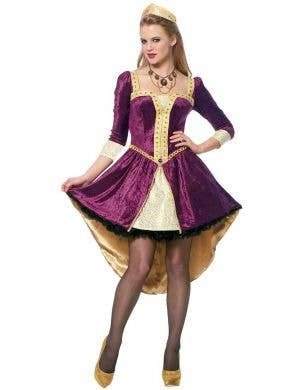 Women's Sexy Medieval Queen Fancy Dress Costume Main Image