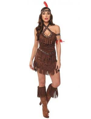 Sexy Women's American Indian Fancy Dress Costume Main Image