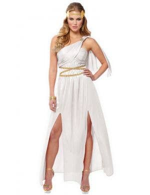 Roman Empress Women's White Toga Costume