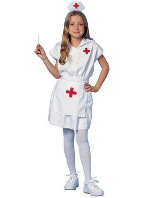 Nurse's Uniform Girls Fancy Dress Costume Main Image