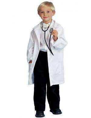 Boys White Lab Coat Doctor's Costume Main Image
