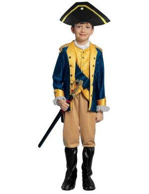 Colonial General Boy's Fancy Dress Costume Front View