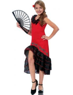 Spanish Senorita Girls Fancy Dress Costume