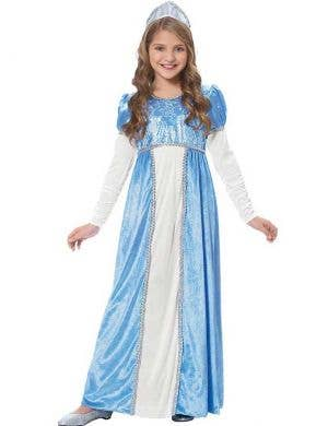 Girls Blue Renaissance Princess Cinderella Costume Main Image