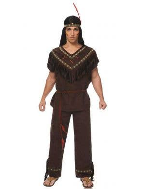 Native American Indian Men's Fancy Dress Costume Main Image