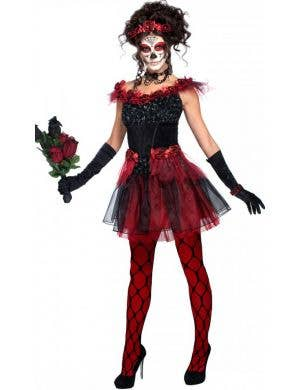 Sugar Skull Beauty Women's Day of the Dead Costume