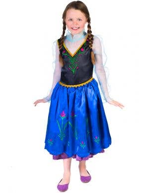 Frozen Girl's Princess Anna Costume Front View