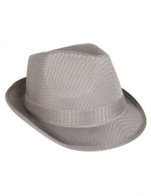 1920's Grey Gangster Fedora Costume Hat