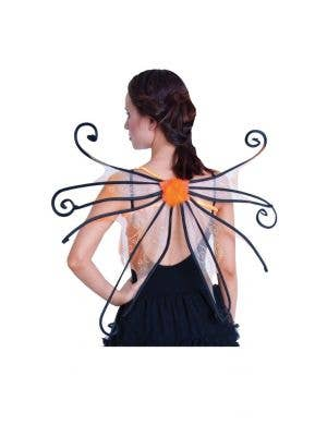 Spider Fairy Novelty Orange Wings Costume Accessory
