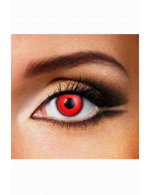 Blood red vampire contact lenses