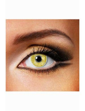Shimmer Gold Coloured Contact Lenses