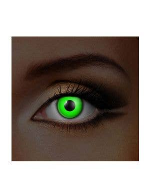 Funky Vision I Glow Green UV Special Effects Contact Lenses View 1