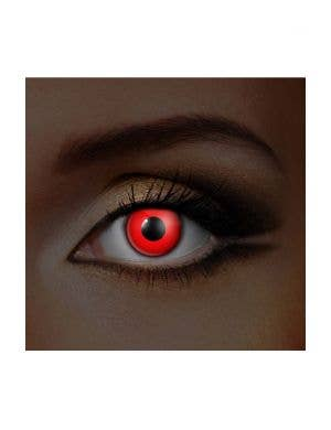 Funky Vision I Glow Red UV Special Effects Contact Lenses View 1