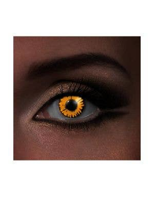 Funky Vision I Glow Twilight New Moon Black And Orange UV Special Effects Contact Lenses View 1