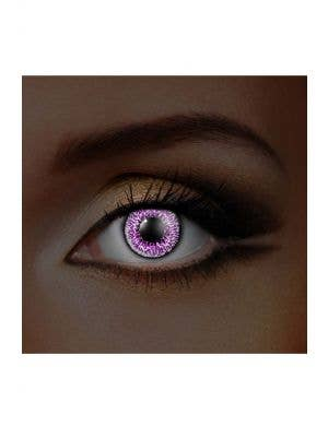 Jewelled Amethyst UV Reactive Coloured Contacts, View 1
