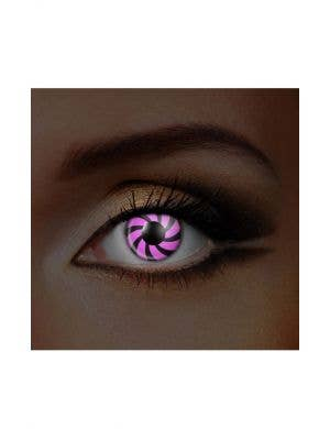 Optical Illusion Pink and Black Contacts by Funky Vision view 1