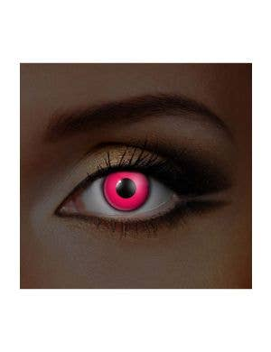 Pink UV Reactive Coloured Contacts by Funky Vision, View 1