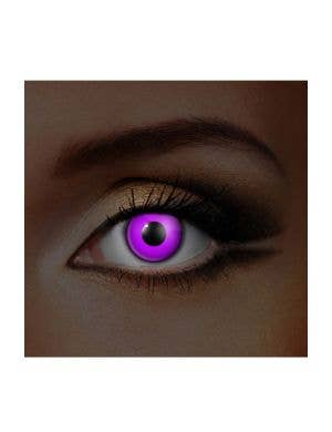 Bright Violet UV Reactive Coloured Contacts, View 1