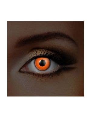 Funky Vision I Glow Orange UV Special Effects Contact Lenses View 1